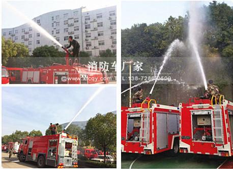 消防车试水